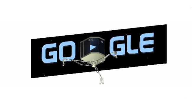 Google Philae\''yi doodle yaptı