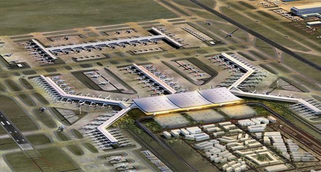 100 kilometrede bir havalimanı