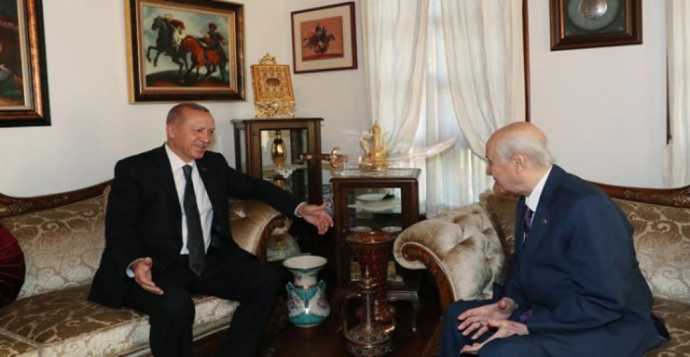Cumhurbaşkanı Erdoğan'dan Bahçeli'yi ziyaret etti