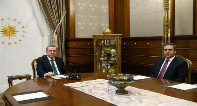 Cumhurbaşkanı MİT Müsteşarını kabul etti