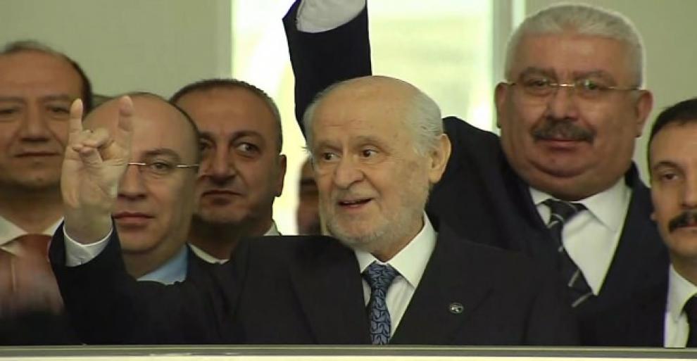 MHP lideri Bahçeli Genel Merkez'de!